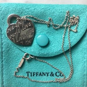 """Tiffany & Co. Sterling """" I love you """" necklace"""
